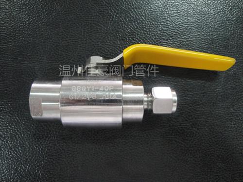 精品优质QG.QY1-64P,G1/2-¢10卡套式气源球阀,不锈钢气源球阀
