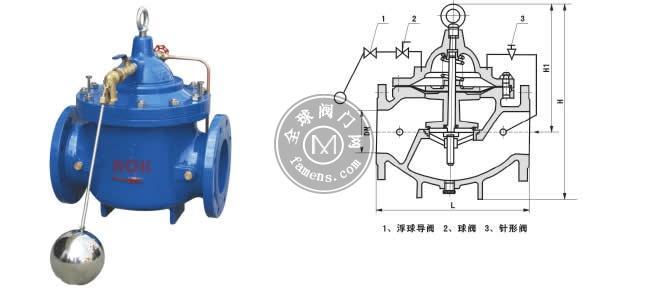 永嘉水力控制阀遥控浮球阀100X