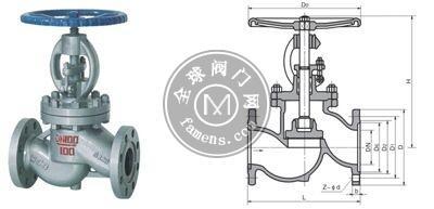 J41H、J41Y、J41W 國標截止閥  上海良工閥門