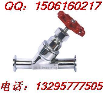 卫生级快装调节阀图片、手动流量调节快装角座阀