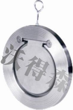 H74W单瓣旋启式对夹止回阀