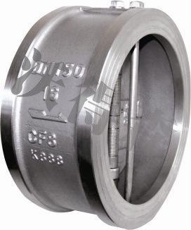 H76双瓣旋启式对夹止回阀不锈钢