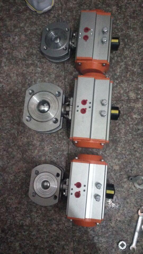 气动超薄式(对夹)球阀 对夹式气动切断球阀 气动薄型焊接球阀