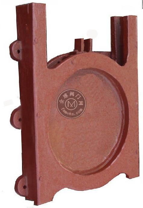圆形铸铁镶铜闸门(明杆式)