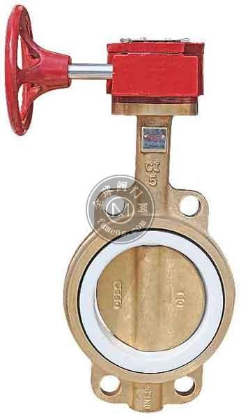 全铜蜗轮对夹式蝶阀D371F-10/16TB2