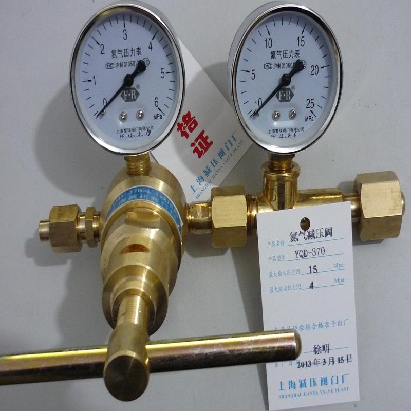 YQD-370氮气高压减压阀,氮气减压器,上海氮气减压阀门厂产品选型目录