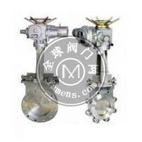 氣動碳鋼對夾式刀型閘閥