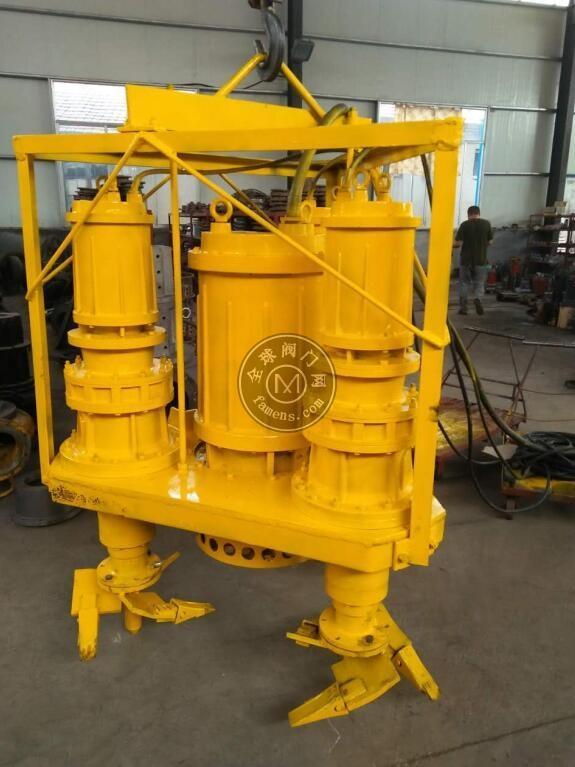 加装电动搅拌器-潜水耐磨砂浆泵
