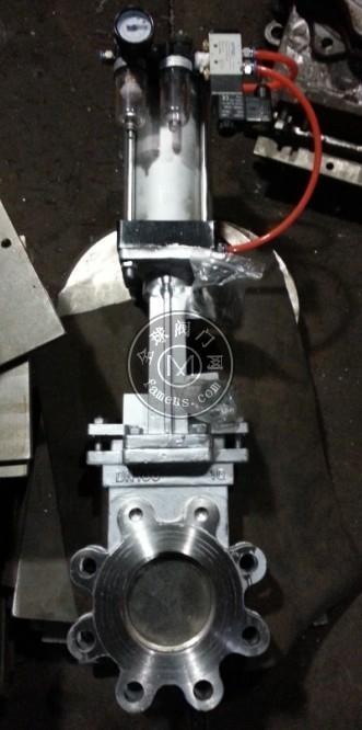 氣動不銹鋼對夾式刀閘閥