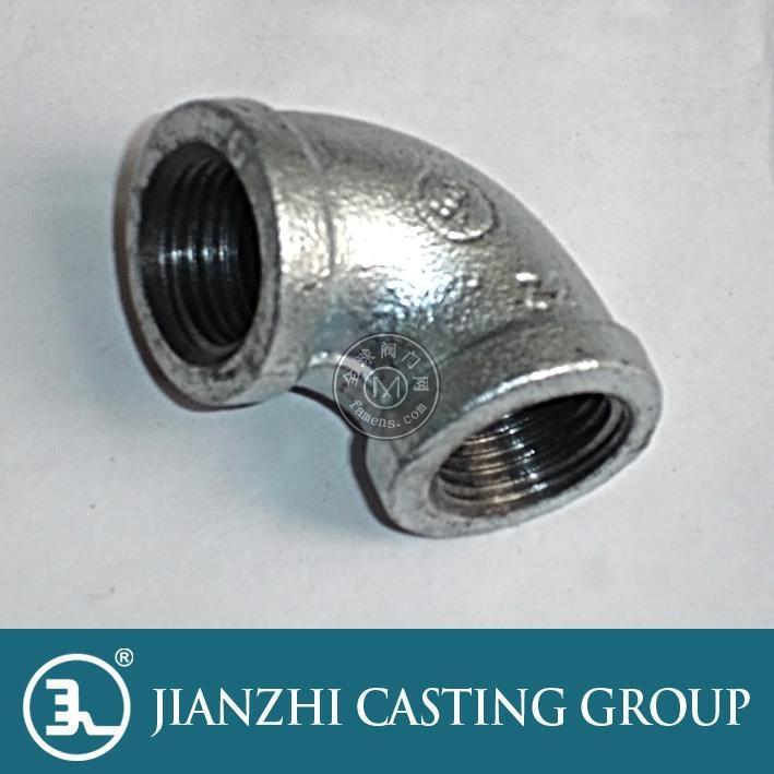 供應建支燃氣管件 國標熱鍍鋅管件15彎頭