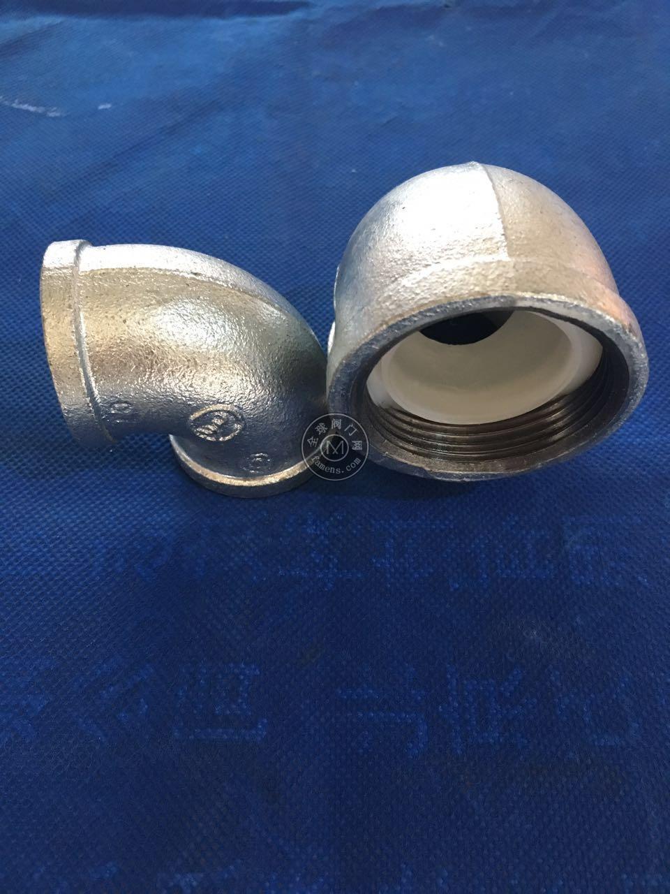 瑪鋼襯塑管件 建支牌外鍍鋅內襯塑管件