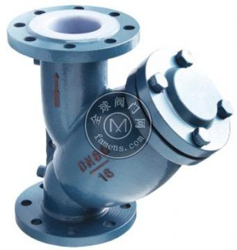 GL41F46-10C Y型襯氟過濾器