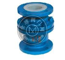 衬氟塑料立式止回阀H42F46-16C