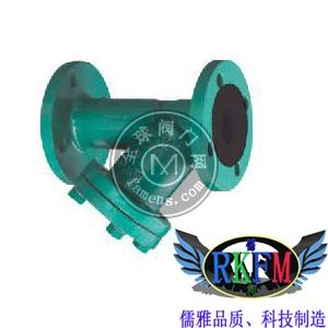 Y型法兰衬胶过滤器-GL41J型RKFM品牌