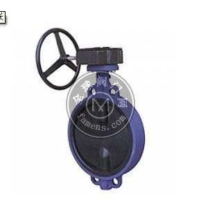 蜗轮传动对夹式衬胶蝶阀D371J-10