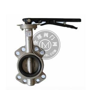 手動不銹鋼對夾式軟密封蝶閥D71X-10P