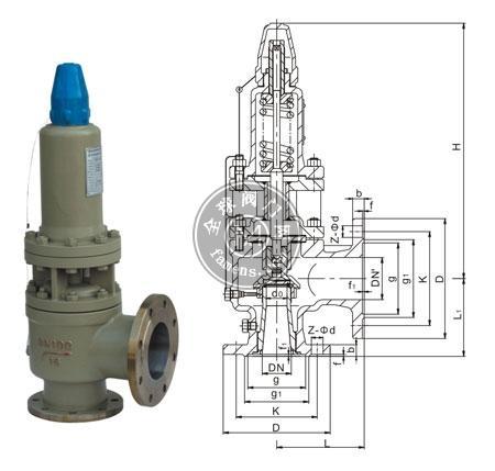 A40Y型帶封閉散熱器彈簧全啟式安全閥