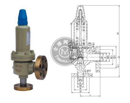 A41Y-160,320型弹簧微启封闭式高压安全阀