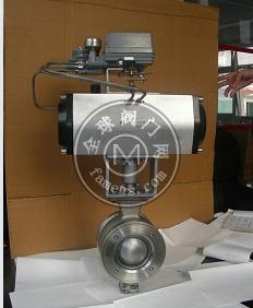氣動V型調節球閥(氣動V型球閥)