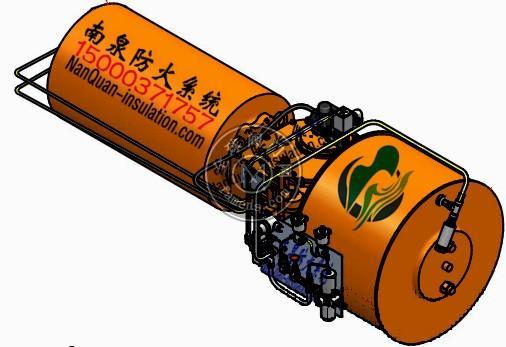 海上钻井平台阀门执行器柔性防火罩