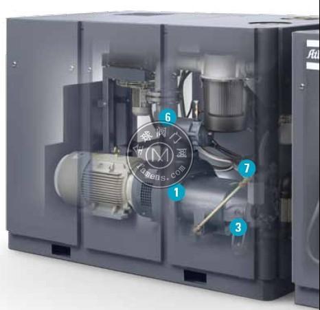 阿特拉斯GHS900VSD+真空泵,印刷机改中央真空节能50%,整厂中央真空站