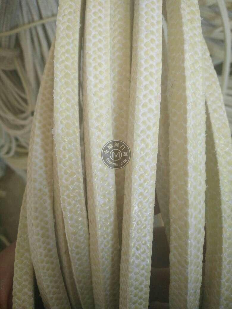 浸漬聚四氟乙烯乳液芳綸盤根,黃色芳綸纖維盤根