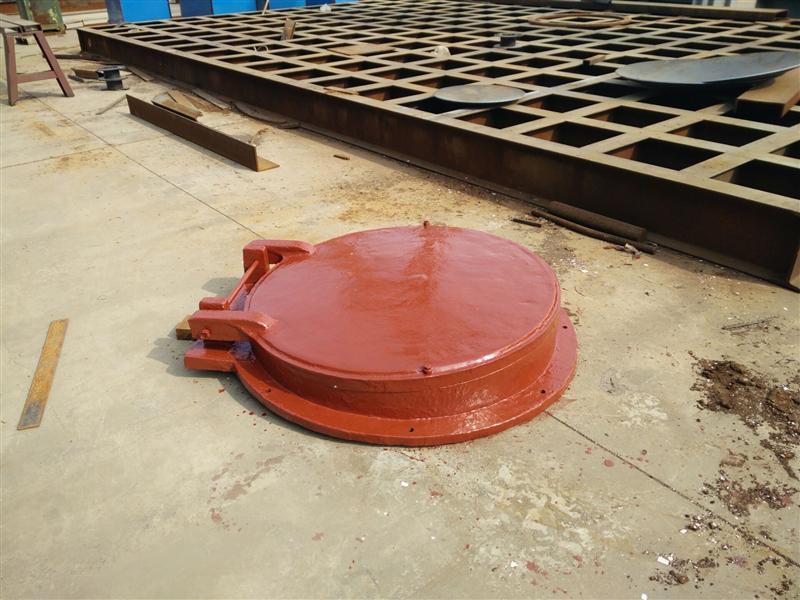 排水管道铸铁圆拍门 DN1400 止回阀门
