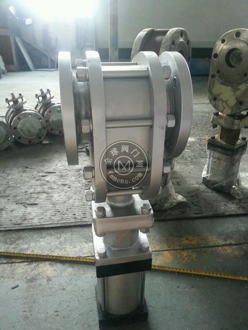气动陶瓷双闸板阀、WZ644TC-16C、泉享阀门