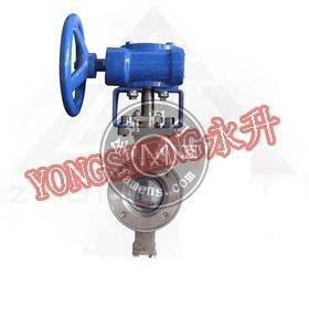 VQ371F涡轮对夹V型球阀