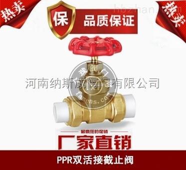 郑州纳斯威PPR双活接截止阀产品价格