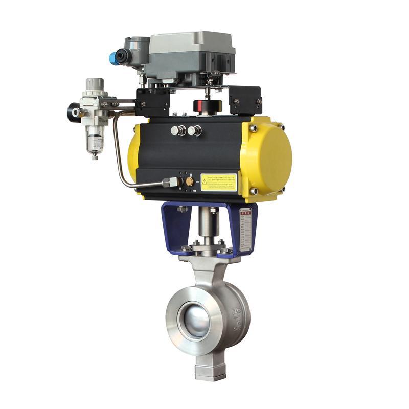 进口气动V型球阀 美国原装进口气动调节v型球阀