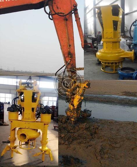 高效挖机抽泥泵_不用电挖机清淤泵_液压驱动型泥沙泵