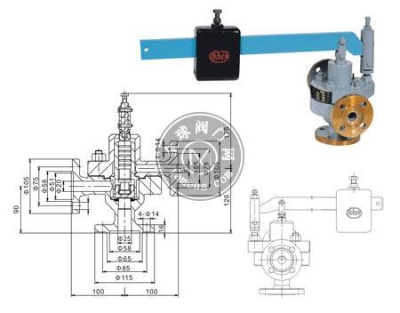 GA49H-4.0型脈沖式安全閥、A49H-40型