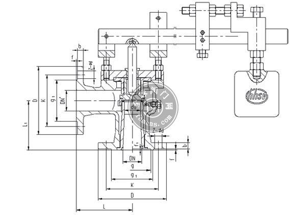 GA51型單杠桿式安全閥