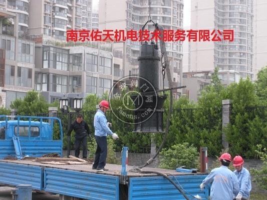 南京雨水泵站185KW潛水混流泵檢修