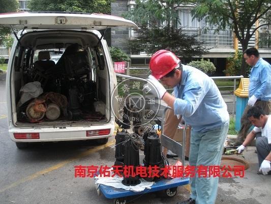 南京地下車庫雨水潛水排污泵維修保養