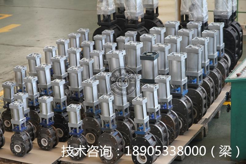 气动 陶瓷 双闸板阀