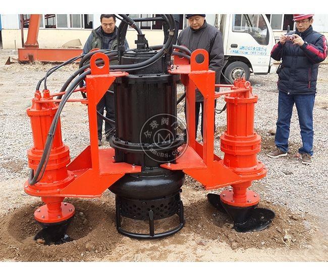 15kw中型鉸刀泥漿泵   潛水耐磨渣漿泵