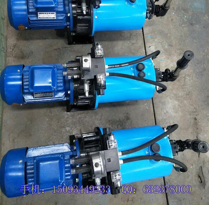 js1500搅拌机卸料阀门液压油缸 液压开门泵站系统
