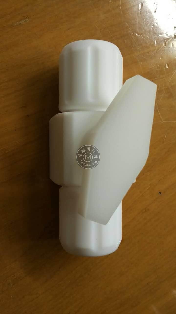 四氟手阀PTFE扩口式手动球阀旋塞阀特氟龙针阀