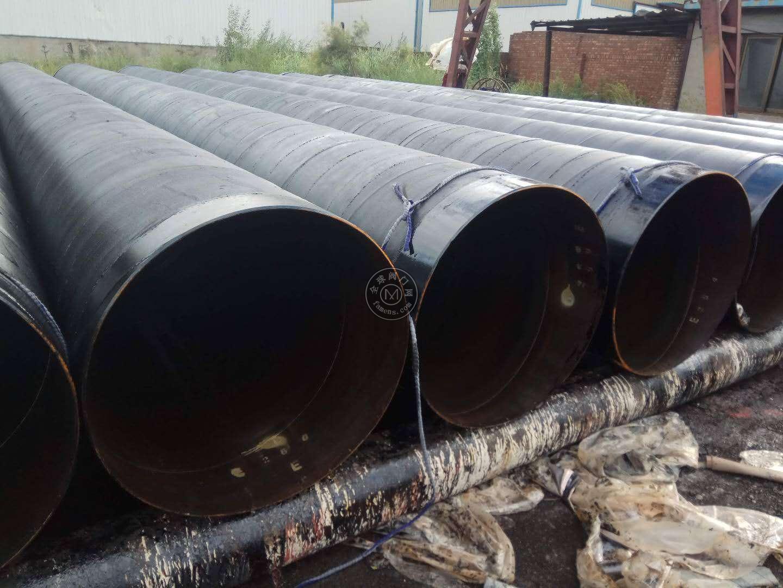 市政污水管道排放工程,螺旋管2布3油防腐管道
