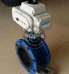 上海精沪软密封电动法兰蝶阀D341X-10规格DN40-DN600
