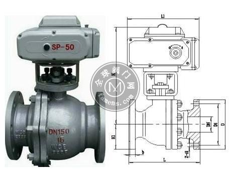 DN15-DN500铸钢电动法兰球阀Q941F-16C