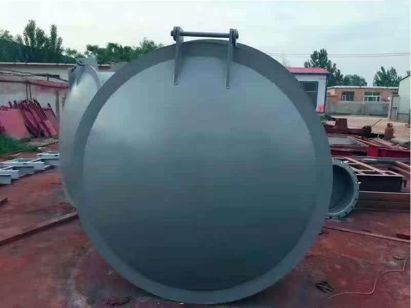厂家直销 防倒灌钢制拍门可定制