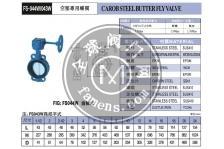 FS-041铸铁对夹手动蝶阀富山F.S蝶阀中国总经销