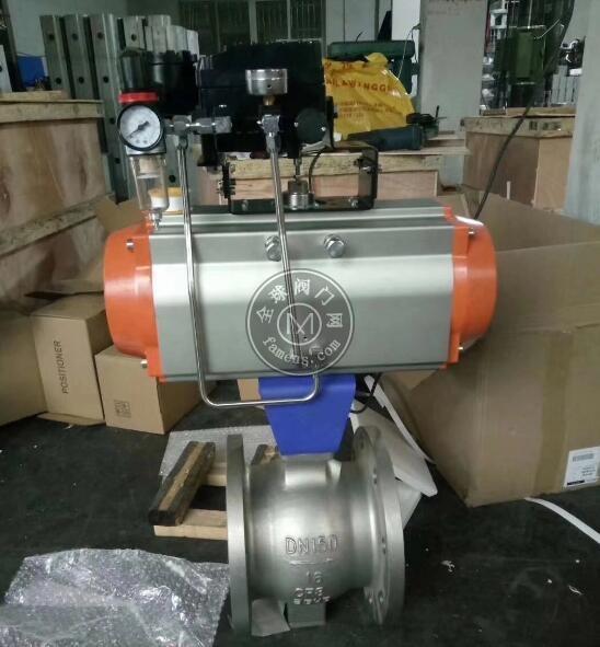 气动V型调节球阀 2205 2507 双作用气动