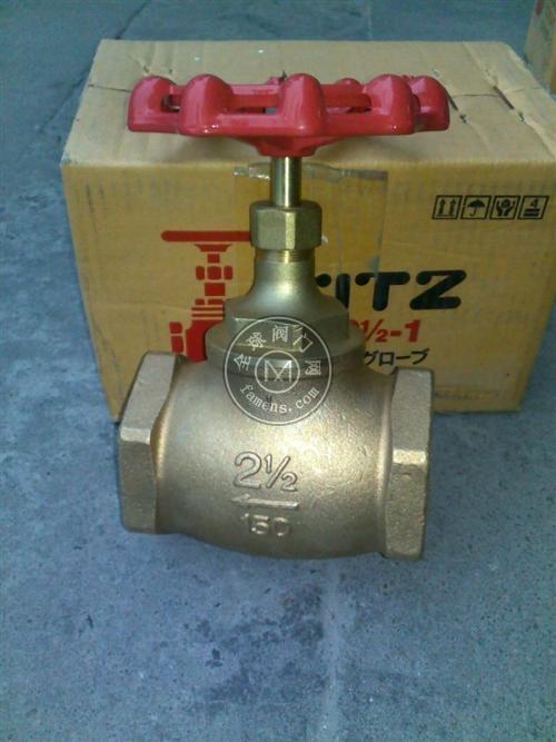 KITZ A青铜截止阀日本开兹KITZ截止阀仓库现货