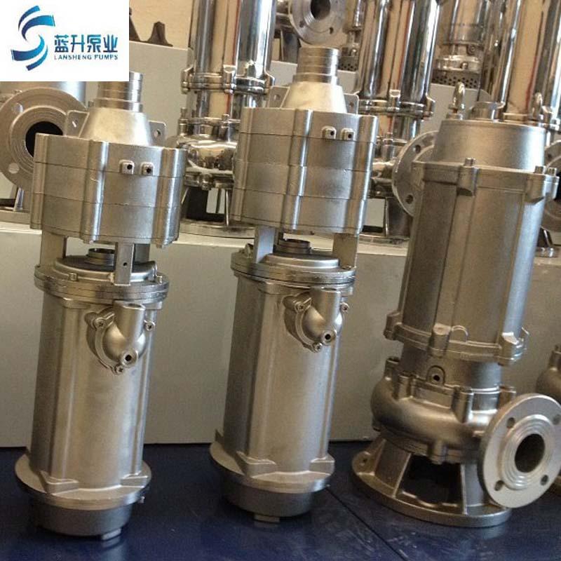 廠家供應耐腐蝕耐高溫不銹鋼潛水泵無堵塞潛水排污泵