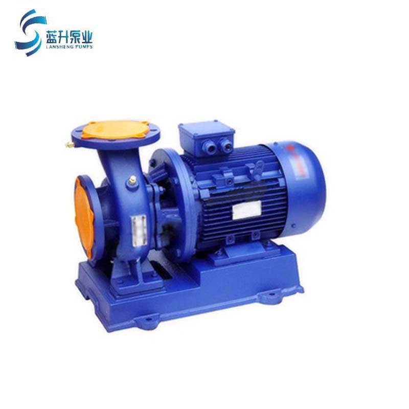 山東濟南ISW100-160臥式管道離心泵 地暖 高溫循環泵