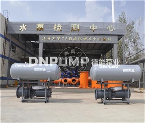 供应天津德能泵业浮筒式潜水轴流泵QZB潜水混流泵QHB